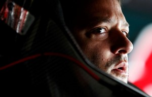 Tony Stewart sits in the #14 Office Depot Back to School Chevrolet before the start of practice for the NASCAR Sprint Cup Series Pennsylvania 400 at Pocono Raceway on August 3, 2012 in Long Pond, Pennsylvania. (Photo by Jeff Zelevansky/Getty Images)