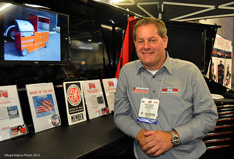 Ricky Sanders at SEMA 2013. Copyright © 2013 RubbingsRacing.com. All rights reserved. Photo credit: Boyd Adams