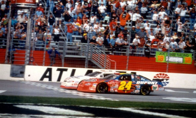 2001 atlanta march nscs race kevin harvick and jeff gordon