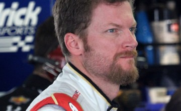 Dale Earnhardt Jr. during practice for the GoBowling.com 400 at Pocono Raceway on August 1, 2014