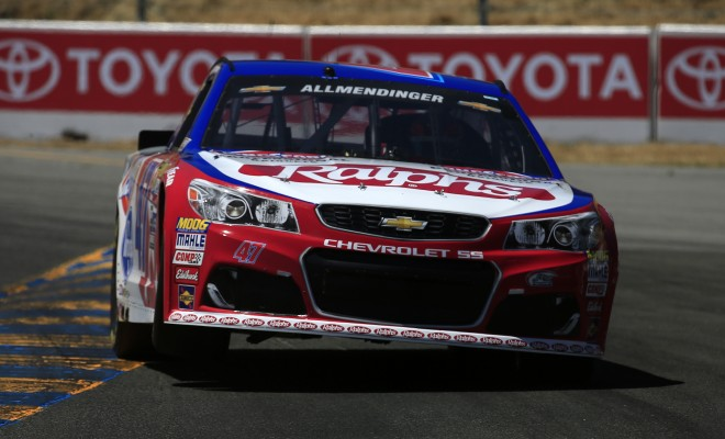 SONOMA, CA - JUNE 25:  AJ Allmendinger, driver of the #47 Ralph's/Kingsford Chevrolet, qualifies for the NASCAR Sprint Cup Series Toyota/Save Mart 350 at Sonoma Raceway on June 25, 2016 in Sonoma, California.  (Photo by Chris Trotman/NASCAR via Getty Images)