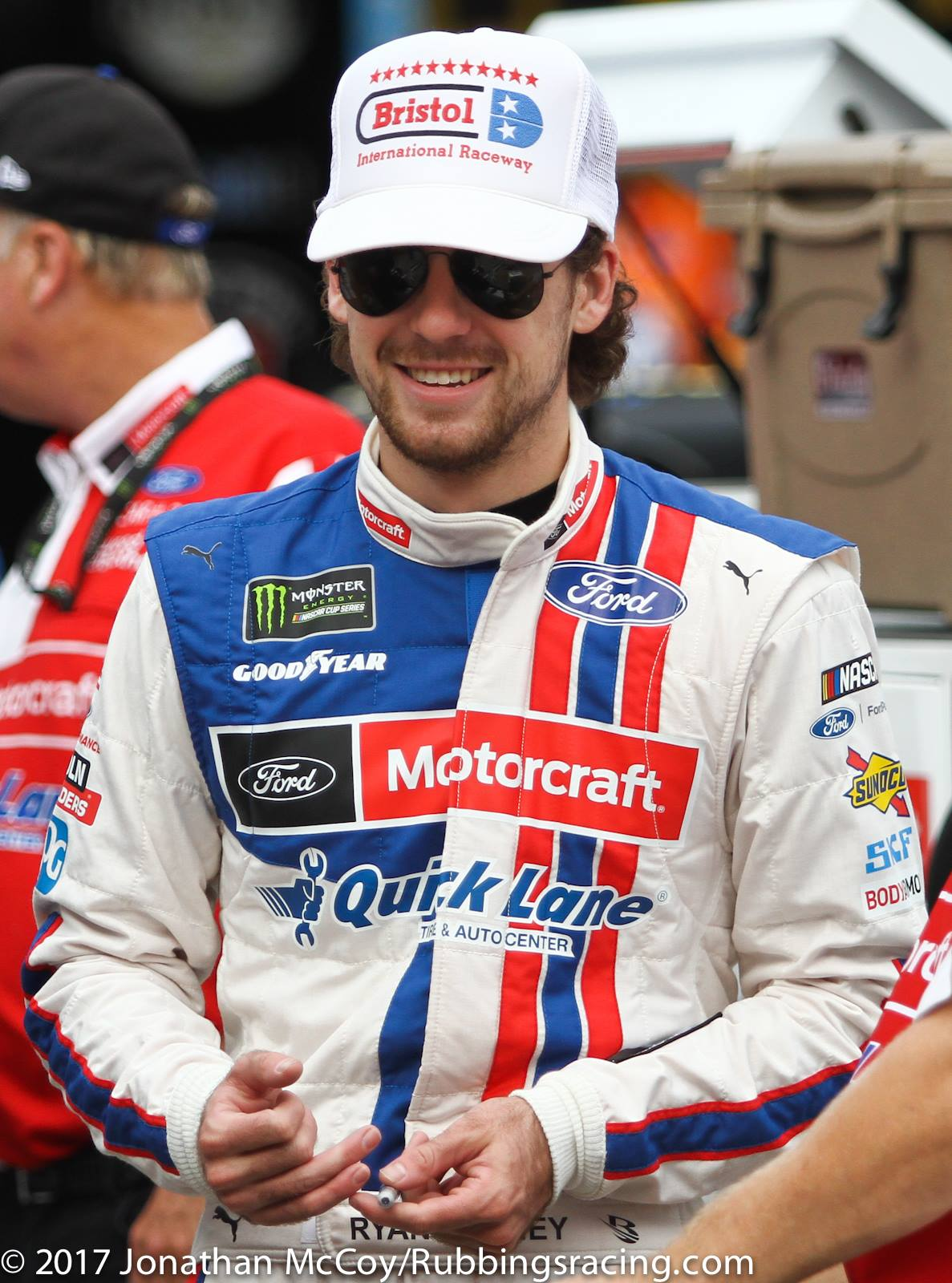 Mencs Ryan Blaney Showing Speed In Happy Hour Rubbings
